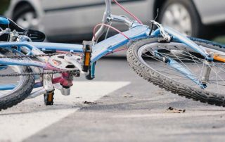 Bicycle Accident Stock Photo